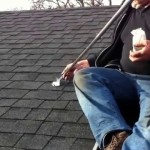 Installing Chimney Roof Brace at Roof