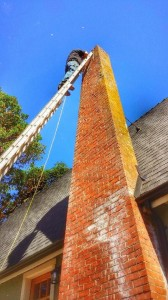 Dean on Top 40' Ladder Flue Guru References
