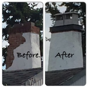 Stucco Chimney Repairs To Crown