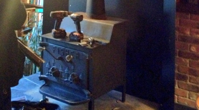 A wood stove thermometer would be a good choice on this stove because you can't see the fire