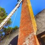 Dean on Top 40' Ladder Flue Guru Reference